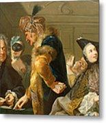Gamblers In The Foyer Metal Print by Johann Heinrich Tischbein