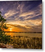 Gandy Lagoon Metal Print by Marvin Spates