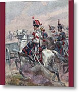 Garde Imperiale 1857 With Fgb Border Metal Print by A Morddel