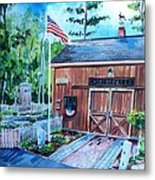 Gardening Shed Metal Print by Scott Nelson