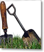 Gardening Tools Metal Print by Olivier Le Queinec