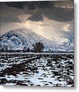 Gathering Winter Storm - Utah Valley Metal Print by Gary Whitton
