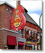Gatlinburg Hard Rock Cafe Metal Print by Frozen in Time Fine Art Photography