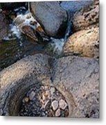 Gauthier Creek Point Of Interest Metal Print by Sandra Updyke