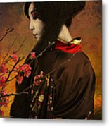 Geisha With Quince - Revised Metal Print by Jeff Burgess