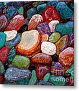 Gemstones Metal Print by Barbara Griffin