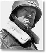 General George Patton Metal Print by War Is Hell Store