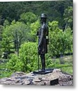 General Kemble Warren At Little Round Top Metal Print by John Greim