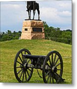 General Meade Monument And Cannon Metal Print by James Brunker