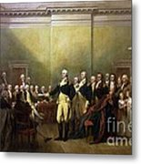 General Washington Resigning His Commission Metal Print by Pg Reproductions