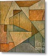 Geometric Abstraction Iv Metal Print by David Gordon