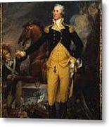 George Washington Before The Battle Of Trenton Metal Print by John Trumbull