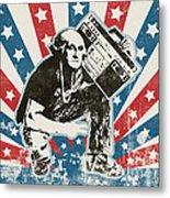 George Washington - Boombox Metal Print by Pixel Chimp