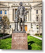 George Washington Statue Indianapolis Indiana Statehouse Metal Print by Paul Velgos