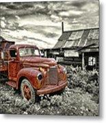 Ghost Town Truck Metal Print by Robert Jensen