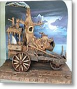 Ghost Tractor Metal Print by Stuart Swartz