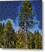 Giant Abstract Tree Metal Print by Barbara Snyder