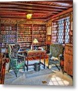 Gillette Castle Library Metal Print by Susan Candelario