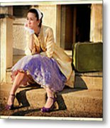 Gina On The Day Al Left Metal Print by Theresa Tahara