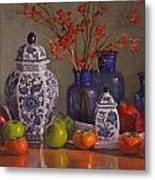 Ginger Jars Metal Print by Sarah Blumenschein