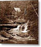 Glade Creek Mill In Sepia Metal Print by Tom Mc Nemar