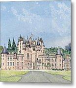 Glamis Castle Tayside  Metal Print by David Herbert