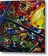 Glass Ceiling Abstract Metal Print by Valerie Garner