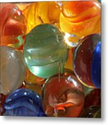 Glass In Glass 3 Metal Print by Mary Bedy