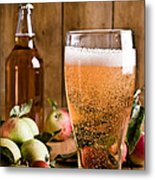 Glass Of Cyder Metal Print by Amanda And Christopher Elwell