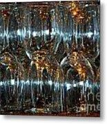 Glasses On A Bar Metal Print by Leo Sopicki