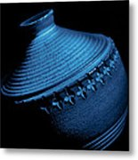 Glazed-blue Metal Print by Tom Druin