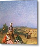 Gleaning Metal Print by George Elgar Hicks