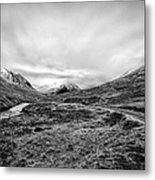 Glen Etive Road And River Metal Print by John Farnan