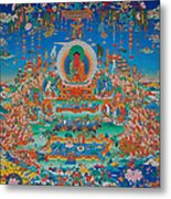 Glorious Sukhavati Realm Of Buddha Amitabha Metal Print by Art School