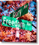 Glory Signs Metal Print by Sonja Quintero