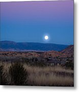 Glowing Full Moon Metal Print by Phyllis Bradd