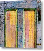 Glowing Through Door Metal Print by Asha Carolyn Young