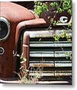 Gmc Grill Work Metal Print by Kathy Clark