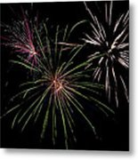 God Bless America Fireworks Metal Print by Christina Rollo