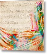 Goddess Of Music Metal Print by Nikki Smith