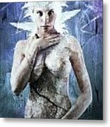 Goddess Of Water Metal Print by Michael  Volpicelli