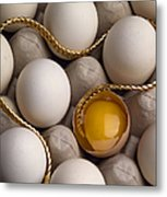 Gold And Eggs Metal Print by J L Woody Wooden