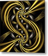 Gold And Silver Metal Print by Sandy Keeton