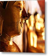 Gold Buddha At Wat Phrathat Doi Suthep Metal Print by Metro DC Photography