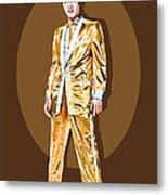 Gold Lamee Elvis Metal Print by Jarod