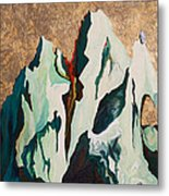 Gold Mountain Metal Print by Joseph Demaree