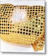 Gold Sequin Purse Metal Print by Jo Ann Snover
