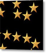 Gold Stars Abstract Triptych Part 3 Metal Print by Rose Santuci-Sofranko