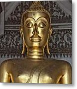 Golden Buddha Temple Statue Metal Print by Antony McAulay