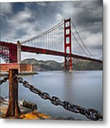 Golden Gate Bridge Metal Print by Eduard Moldoveanu